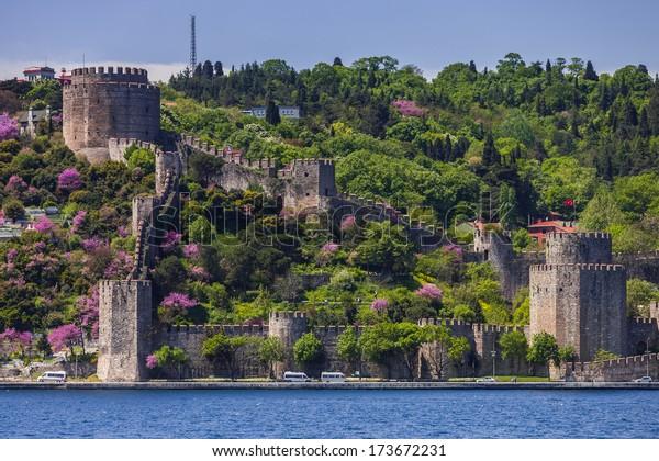 Rumelian Castle along the Bosphorus in istanbul