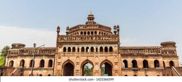 Rumi Darwaza (Turkish Gate) in Lucknow, Uttar Pradesh state of India is an imposing gateway. Rumi Darwaza is an example of Awadhi architecture.