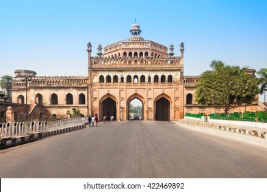 The Rumi Darwaza (Turkish Gate) in Lucknow, Uttar Pradesh state of India is an imposing gateway. Rumi Darwaza is an example of Awadhi architecture.