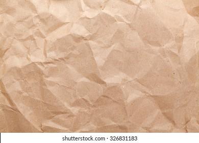 Rumpled brown cardboard paper texture