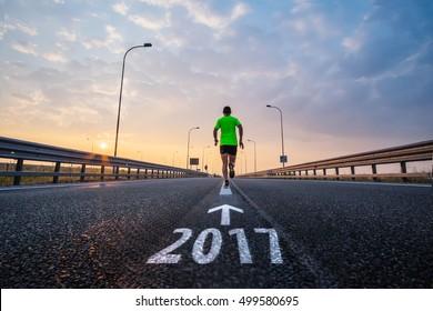 Run in new year 2017