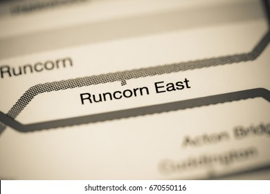 Runcorn East Station. Liverpool Metro map.