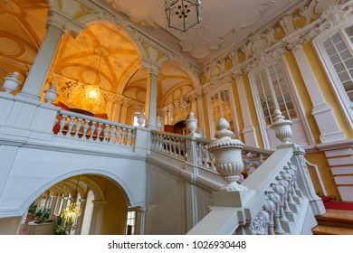 Rundale, Latvia- January 03, 2014: Interior and details of Rundale Palace. One of the most magnificent monuments of Latvia.