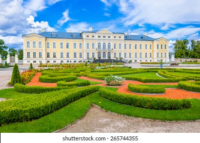 Rundale palace in Latvia. The palace is located near the city Bauska. It is made in baroque style. Famous attraction place for tourists.