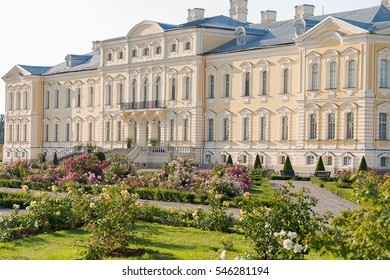 Rundale's palace in Latvia in Baroque style