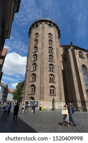 Rundetaarn, Copenhagen, Denmark - 24 Jun 2018: The Round Tower (Rundetaarn) is a 17th-century tower located in central Copenhagen.