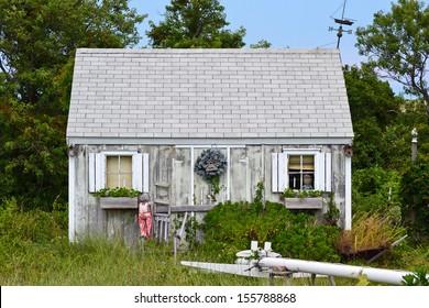A rundown shack in Cape Cod, Massachusetts