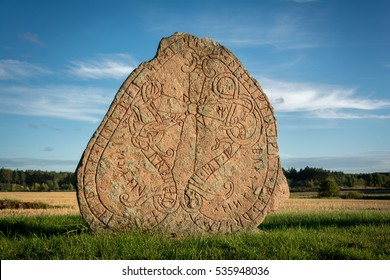 Rune stone in Sweden. Carved a thousand years ago by vikings.