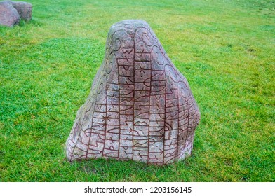 Rune stone from viking age