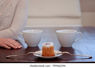 Runeberg's cake is a Finnish traditional dessert and pastry, eating alone and waiting for someone