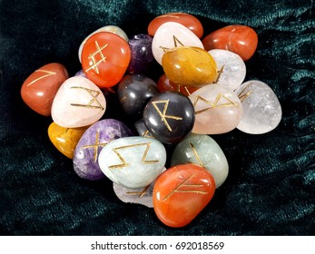 Runes in engraved stones