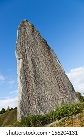 Runestone at Anundsh�¶g outside V�¤ster�¥s, Sweden.