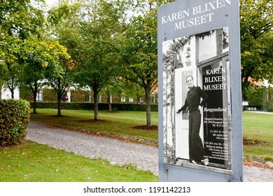 Rungsted, Denmark. September 27, 2018.  Rungstedlund was the family estate of the Danish author Karen Blixen (pen name Isak Dinesen). She did most of her writing here. Today it is a museum.