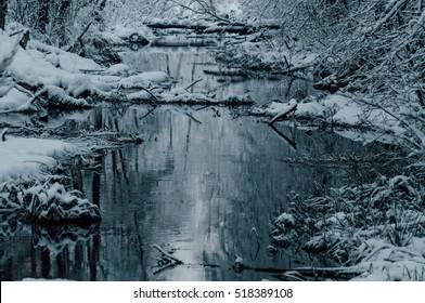 Winter Stream Images, Stock Photos & Vectors   Shutterstock
