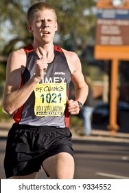 Runner Andy Grupa finished 28th at the PF Chang's Rock 'n' Roll Marathon in Phoenix Arizona, January 2008.