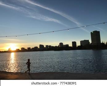 Runner by Lake Merritt, Oakland, CA