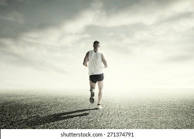 Runner daily training outside