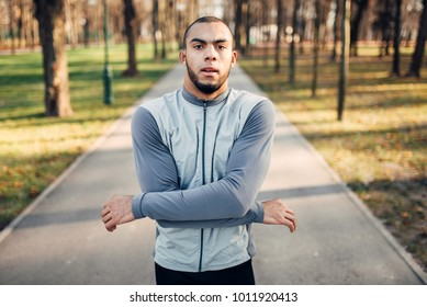 Runner marming up, active, healthy lifestyle