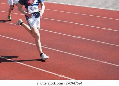 runner in motion blur