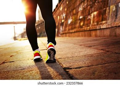 Runner in the sunlight