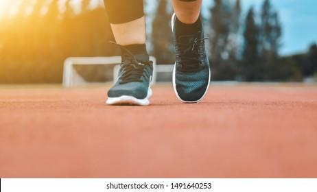 Runner Women are Running on Jogging for Exercise