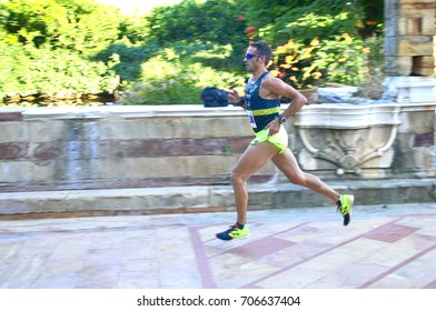runners of 6th half-marathon at Chios/Greece August 27,2017