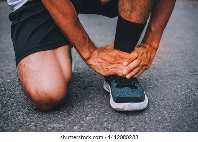 Runners injured on the ankle while running