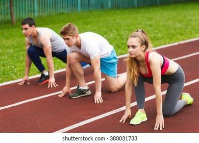 Runners starting the race.