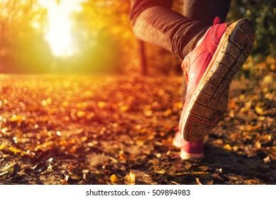 Running in the autumn