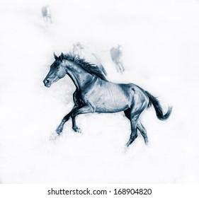 running British racehorse