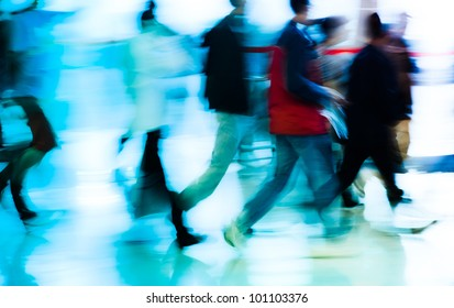 running business people abstract background