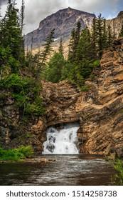 Running Eagle Falls in Glacier National Park, Montana
