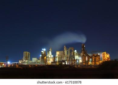 Running Factory working at night