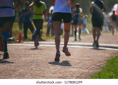 running legs on marathon