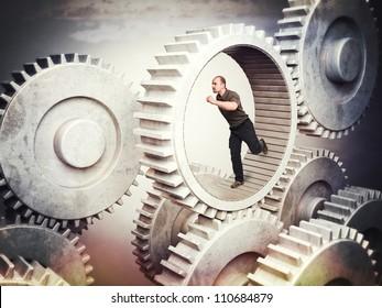 running man in 3d metal gear