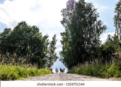 running mans in nature