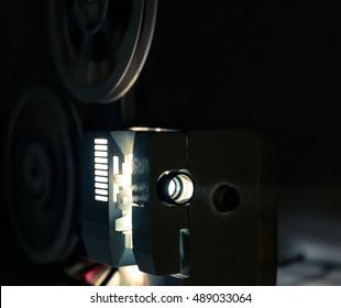 Running Old film projector