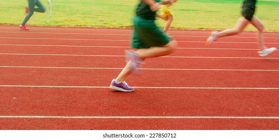 Running on the running track