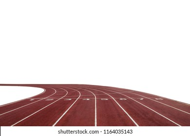 Running race track background with white copy space