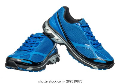 Running shoe, sneaker or trainer isolated on white
