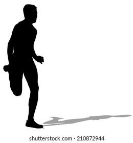 Running silhouettes.  illustration.