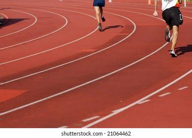running in the stadium