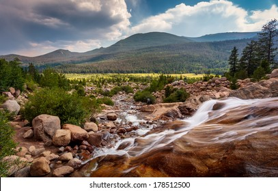 Running stream in the rocky mountains national park