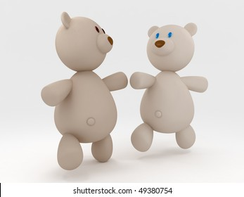running teddy bears