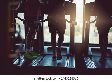 Running together is their thing. People at gym.