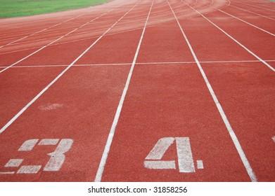 The running track