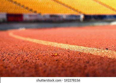 Running track for the athletes background