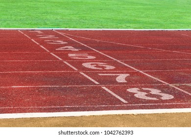 Running track for the athletes background detail