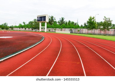 Running track for athletics and competition.