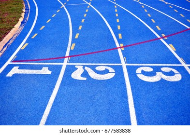 running track blue color - For fitness or competition